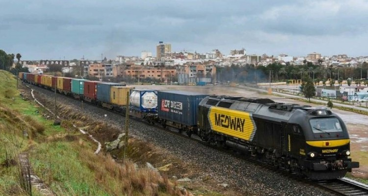MEDWAY - FIRST CONTAINER IN CHINA TRANSPORTED BY TRAIN ARRIVES IN PORTUGAL