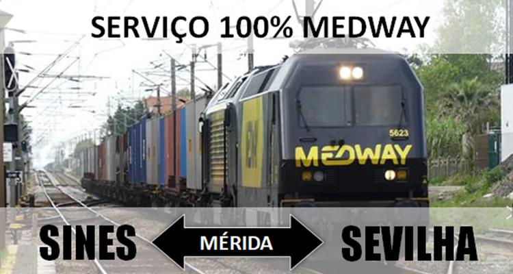 MEDWAY a 100 por cento no serviço Sines-Sevilha